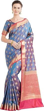 Viva N Diva Sarees for Women's Banarasi Banarasi Art Silk Saree with Un-Stiched Blouse Piece,Free Size