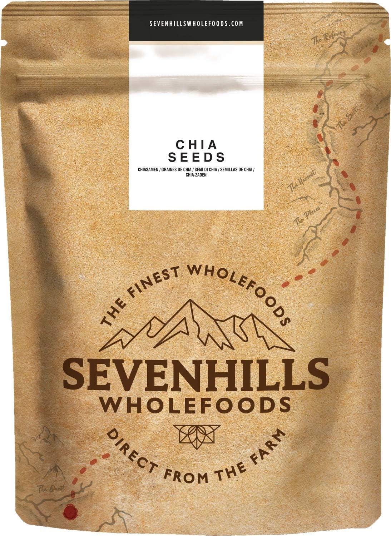 Sevenhills Wholefoods Semillas de Chia Crudo 1kg: Amazon.es: Salud y cuidado personal