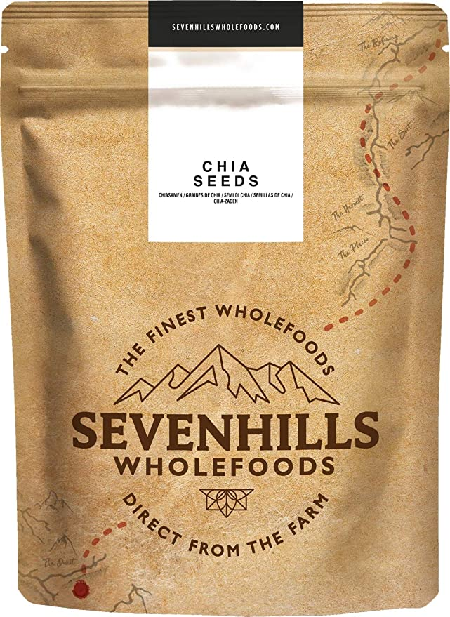 Sevenhills Wholefoods Semillas de Chia Crudo 1kg: Amazon.es: Salud ...