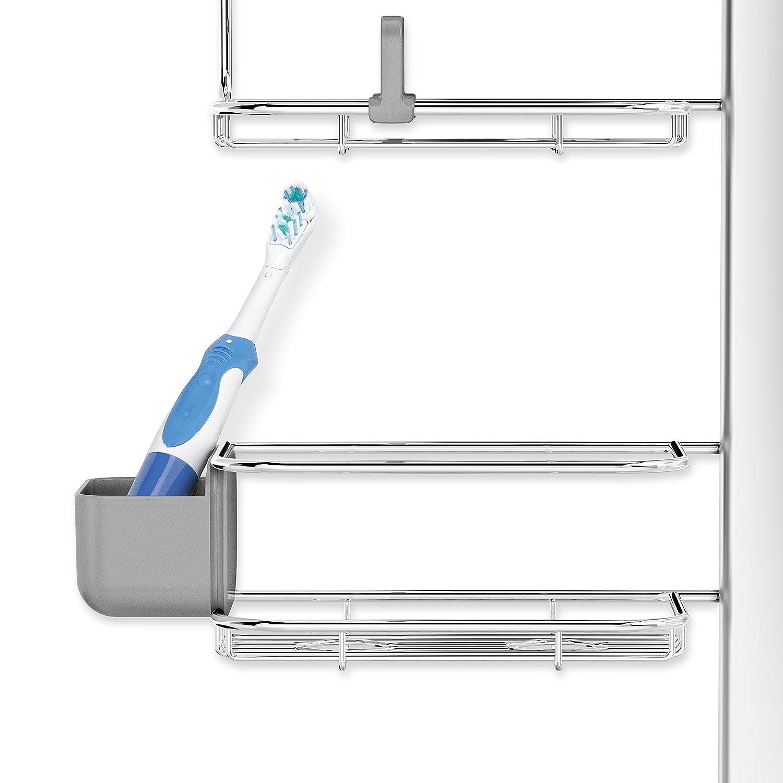 amazon com simplehuman adjustable hanging shower caddy xl amazon com simplehuman adjustable hanging shower caddy xl handheld compatible stainless steel anodized aluminum home kitchen