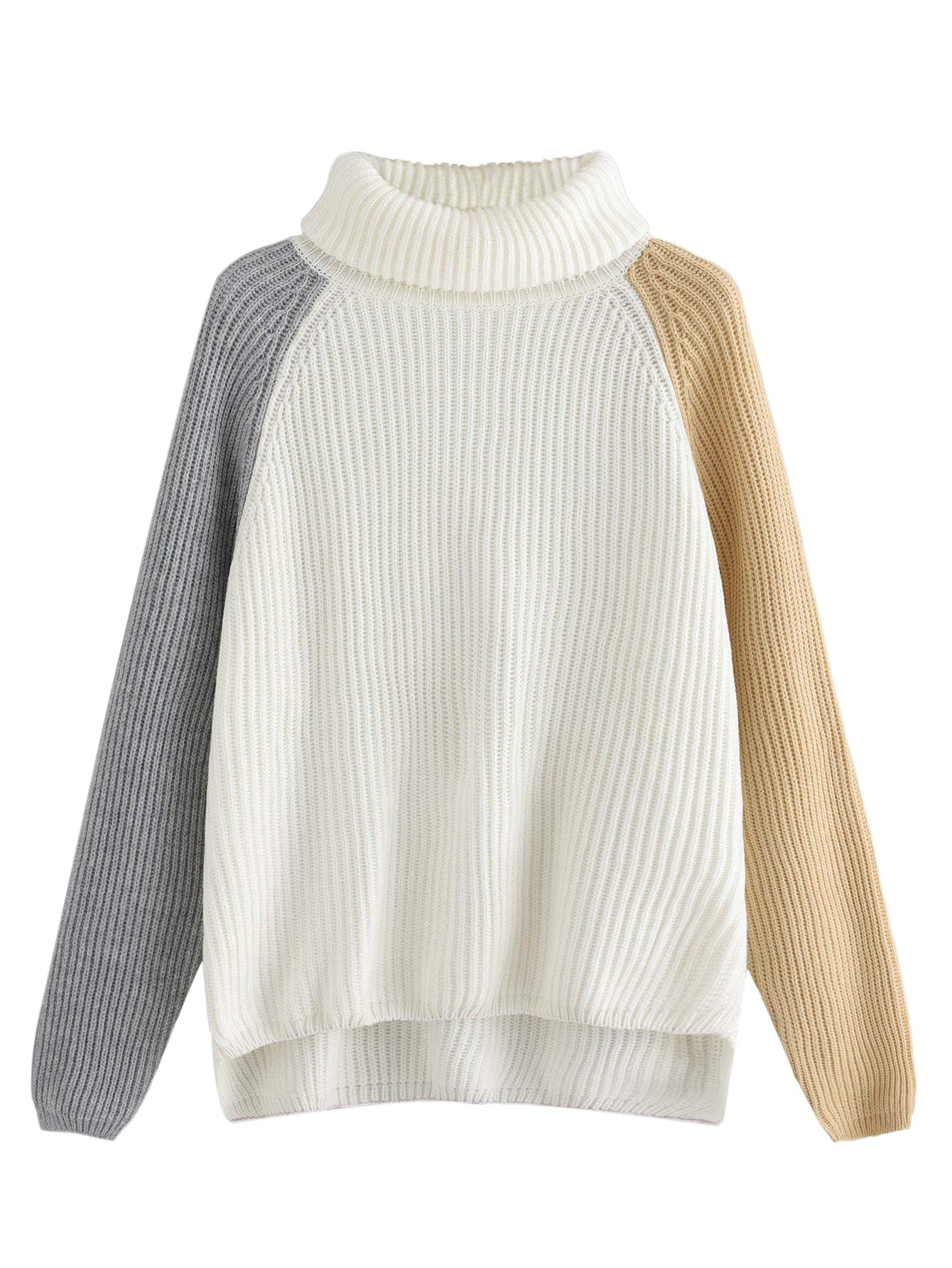 afa300596764a4 Milumia Comfy Sweaters,Women Dip Hem Letter Print Loose Oversized Pullover  Sweater Knit Jumper White