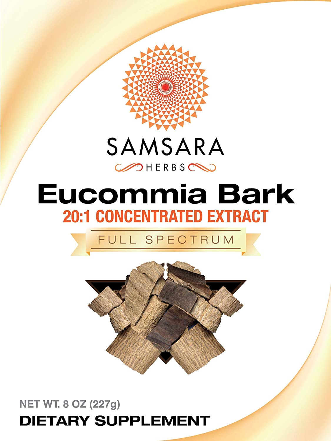 Samsara Herbs Eucommia Extract Powder – 20 1 Concentrated Extract 8oz 227g