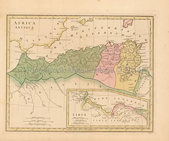 Ancient Africa Map.Ancient Africa Antique Map Wilkinson 1815 Original Wall