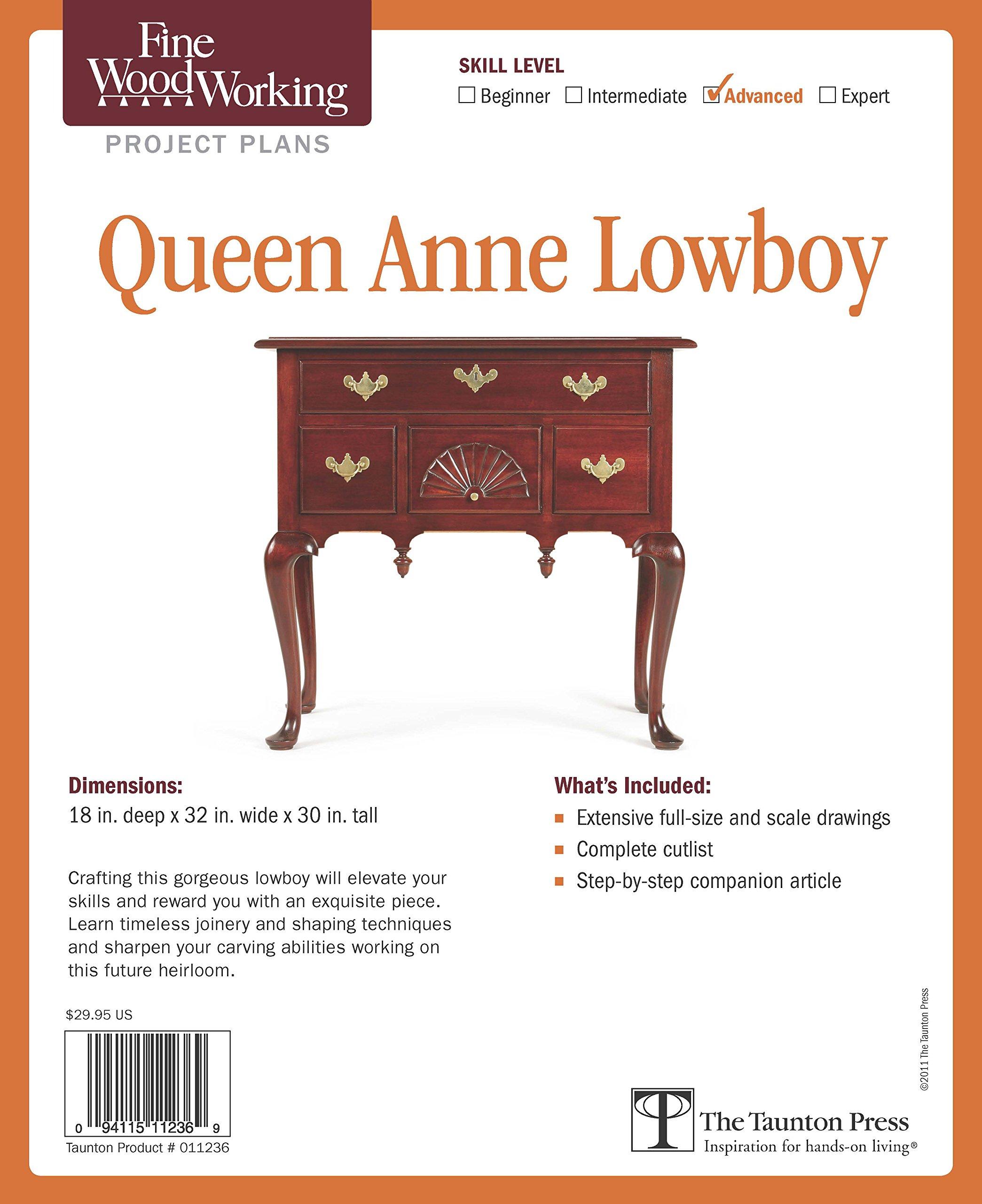 Fine Woodworking's Queen Anne Lowboy Plan (Fine Woodworking Project Plans)
