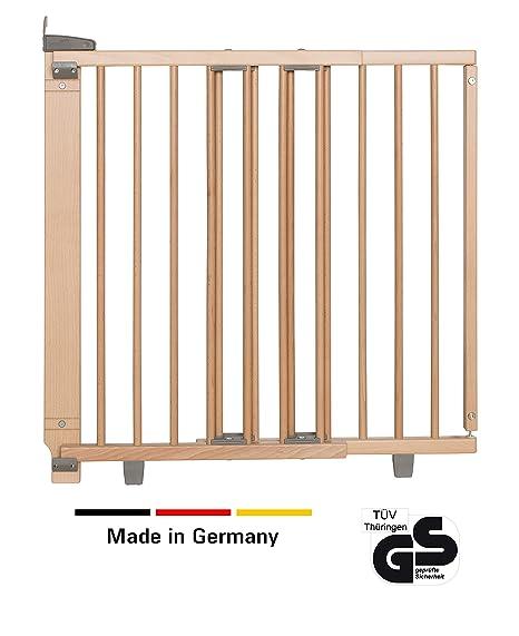 Geuther - Schwenk-Türschutzgitter 2732+, für Kinder, Hunde und Katzen, Made in Germany, Befestigung in der Tür oder vor der T