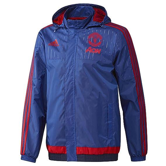 adidas MUFC AW JKT - Chándal para Hombre, Color Azul/Rojo, Talla ...