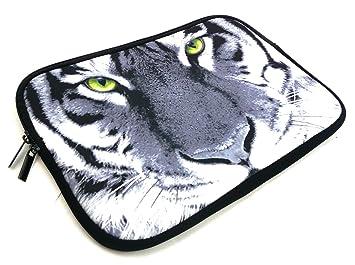Emartbuy® Monochrome Tigre Agua Neopreno Resistente Case Zip Soft ...