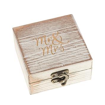 Amazon.com: Ella Celebration - Caja de madera para anillos ...