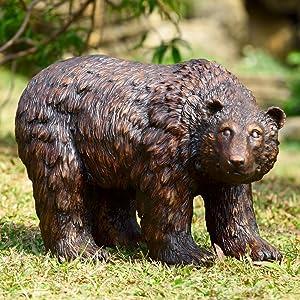 SPI Home 50751 Rust Finish Garden Bear Sculpture
