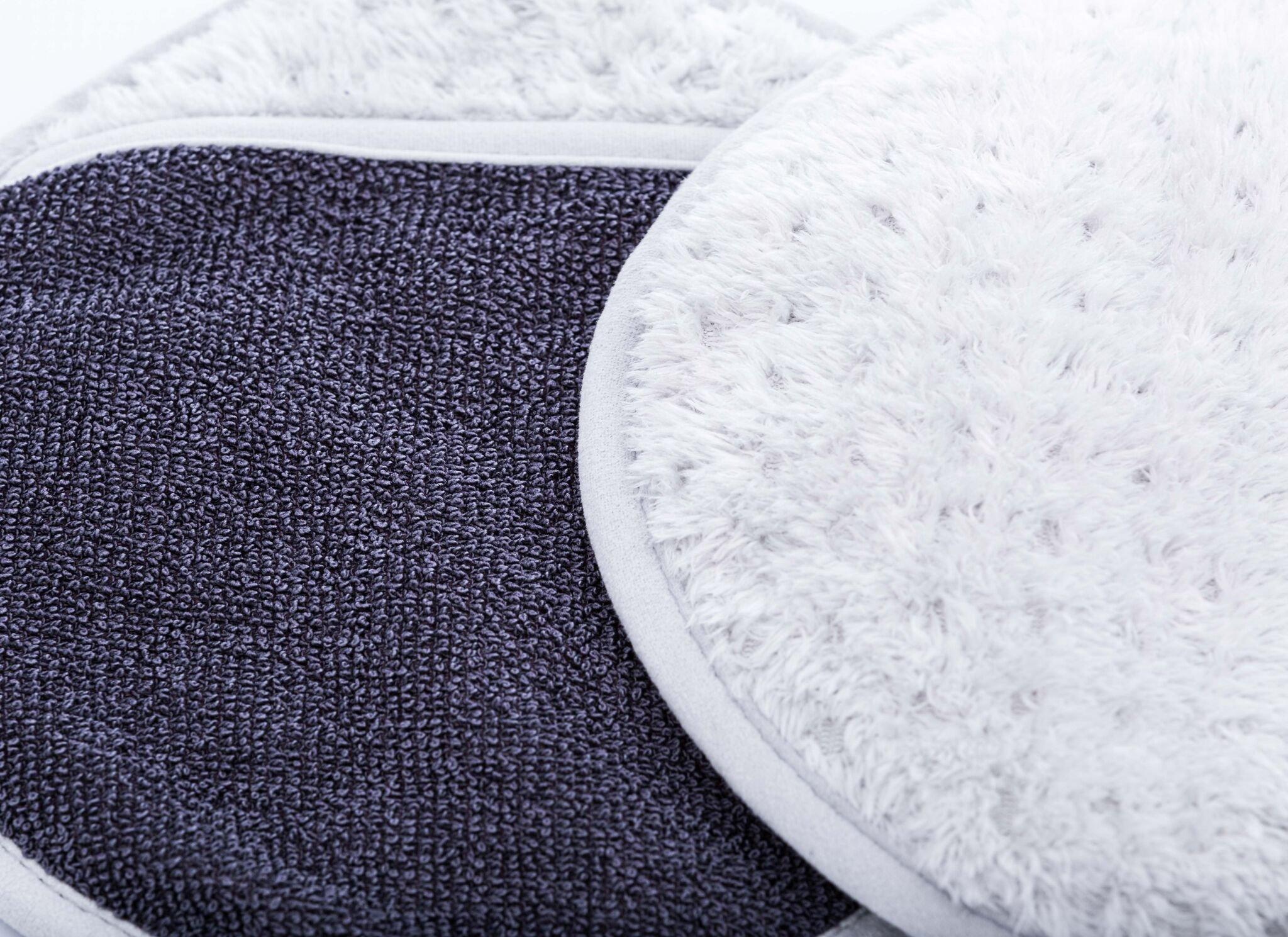 THE RAG COMPANY (2-Pack) 25 in. x 36 in. TWIST N' SHOUT Professional Korean 70/30 550gsm Twist Loop Microfiber Drying Towel & SMITTEN Dry Mitt Combo