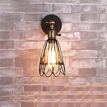 Estilo Vintage Industrial Apertura y Cierre de luz Aplique de ...