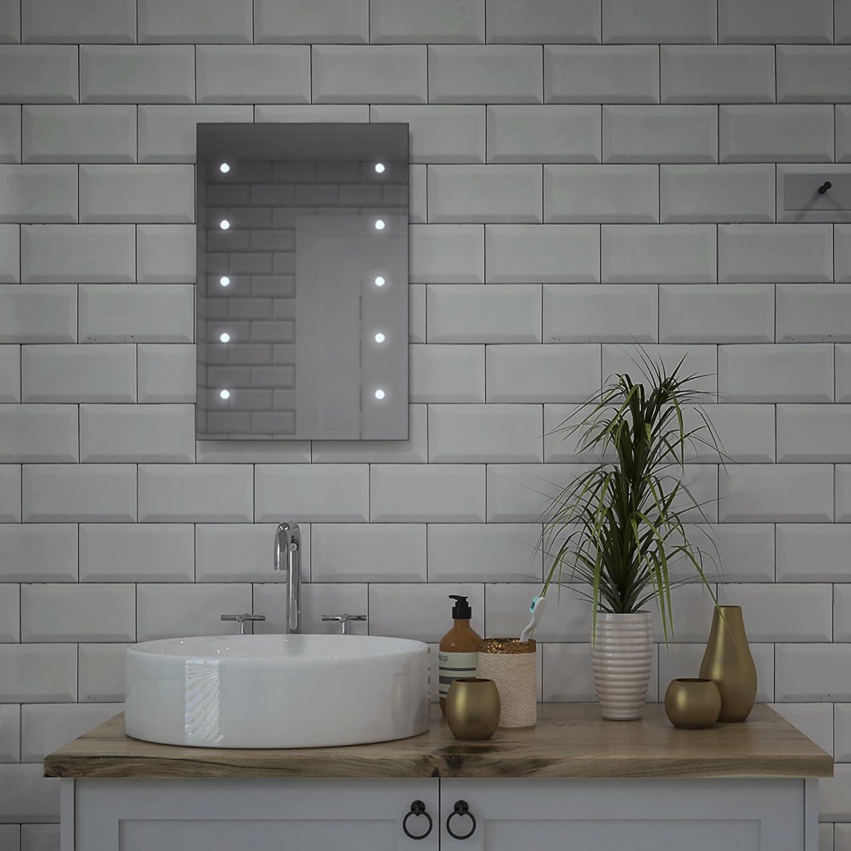 Led battery bathroom mirrors - Lumino Mirrors Lesto Led Bathroom Bedroom Mirror Illuminated With Battery