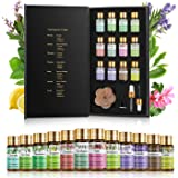 PHATOIL Premium Essential Oils Set with Wood Diffuser 100% Pure Natural Therapeutic Aromatherapy Oils Gift Set-12 Pack…