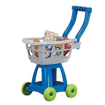 American Plastic Toys Kids Shopping Cart Set, Gray: Toys & Games