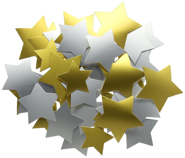 Creation Station Lot de 50 /étoiles en cartons Dor/é//argent/é 2 dimensions