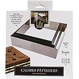 LILY COOK KP5351 Cadre Pâtissier carré Inox Argent 20 x 20 x 5,10 cm
