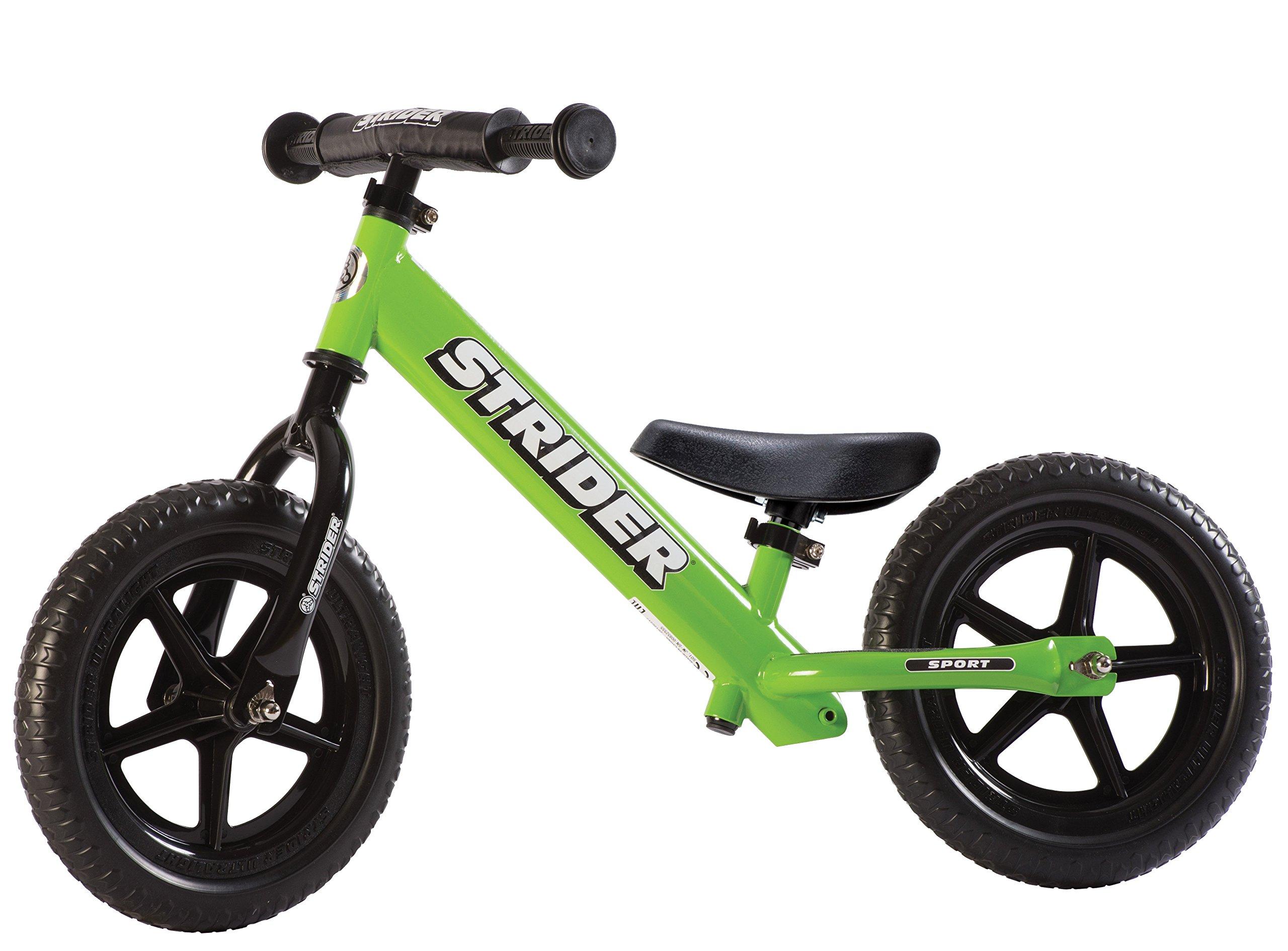 Strider - 12 Sport Balance Bike, Ages 18 Months to 5 Years, Green by Strider