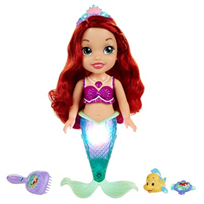 Disney Princess Colors of The Sea Ariel with Bonus Hair Playpiece Doll