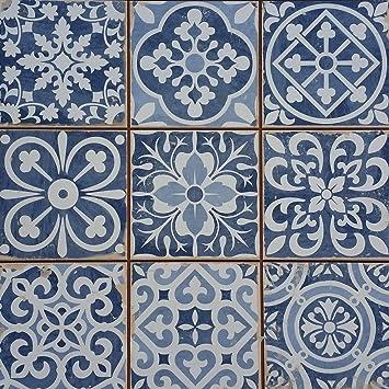 Keramikmosaik Retro Fliesen Lawinia Hexagon Grau 14