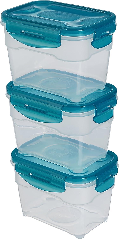 AmazonBasics: Juego de almacenamiento de comida de 3 unidades, 3 x 1,0 L