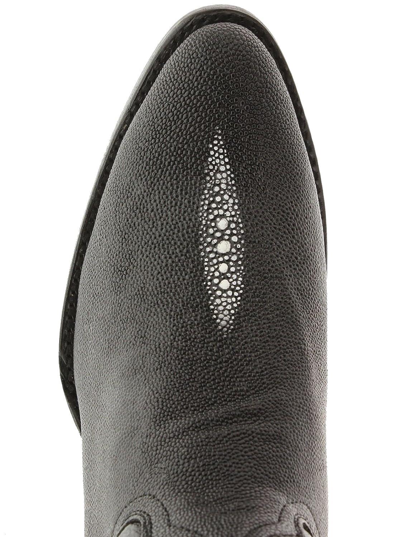 Team West Mens Black Stingray Print Leather Cowboy Boots 8 E US