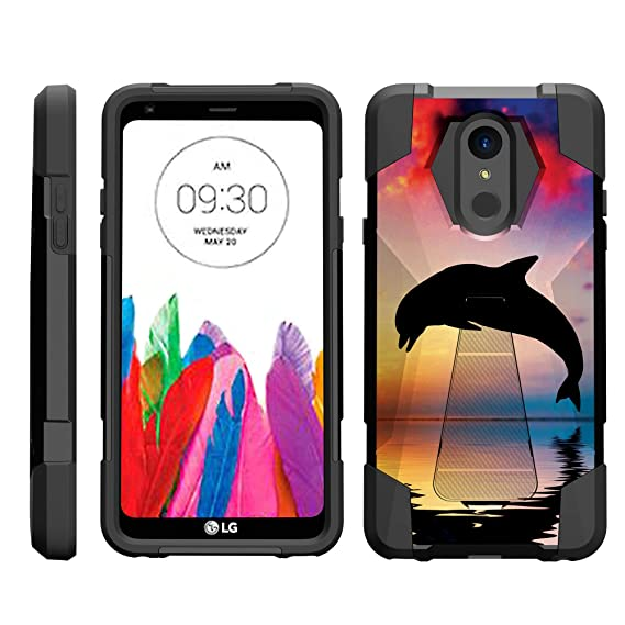 TurtleArmor | Compatible for LG Stylo 4 Case | Q Stylus Case | Stylo 4 Plus  Case [Dynamic Shell] Dual Layer Hybrid Impact Fusion Case Fitted Silicone
