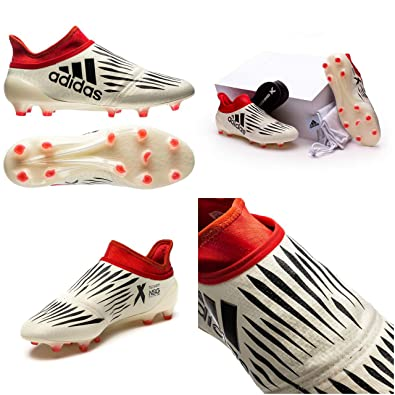 aff58411dcf adidas X 16+ Purechaos Champagne FG Football Boots - Off White Core  Black Red Limited Edition UK 9.5