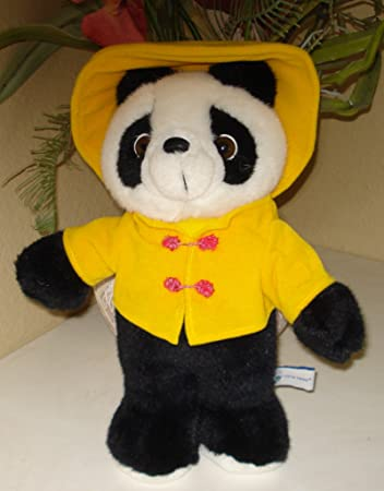 Amazon Com Panda Plush In Yellow Jacket And Hat 14 Inches Toys