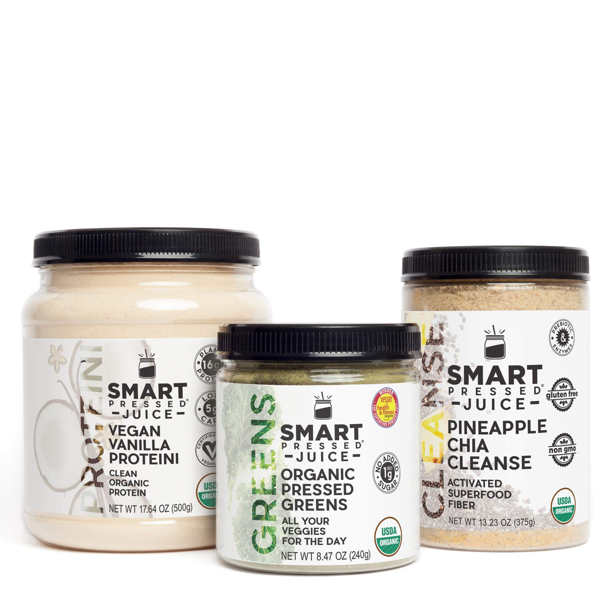 Weight Loss Maintenance Program | Smart Pressed Juice | Juice Cleanse Detox Weight Loss System Hunger Control Meal Replacement Keto-friendly | Organic Pressed Greens Juice Protein Superfood Fiber