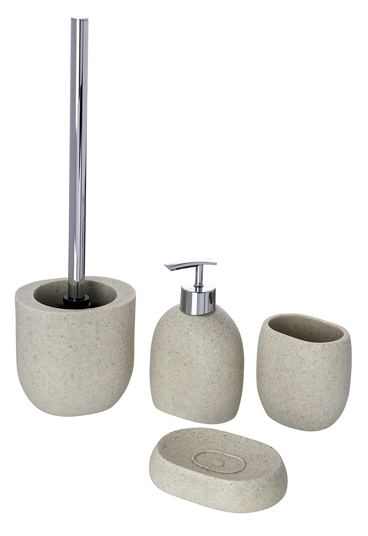 Beige 3.7 x 3.7 x 2.6 inch WENKO 20474100 Toothbrush tumbler Puro Polyresin