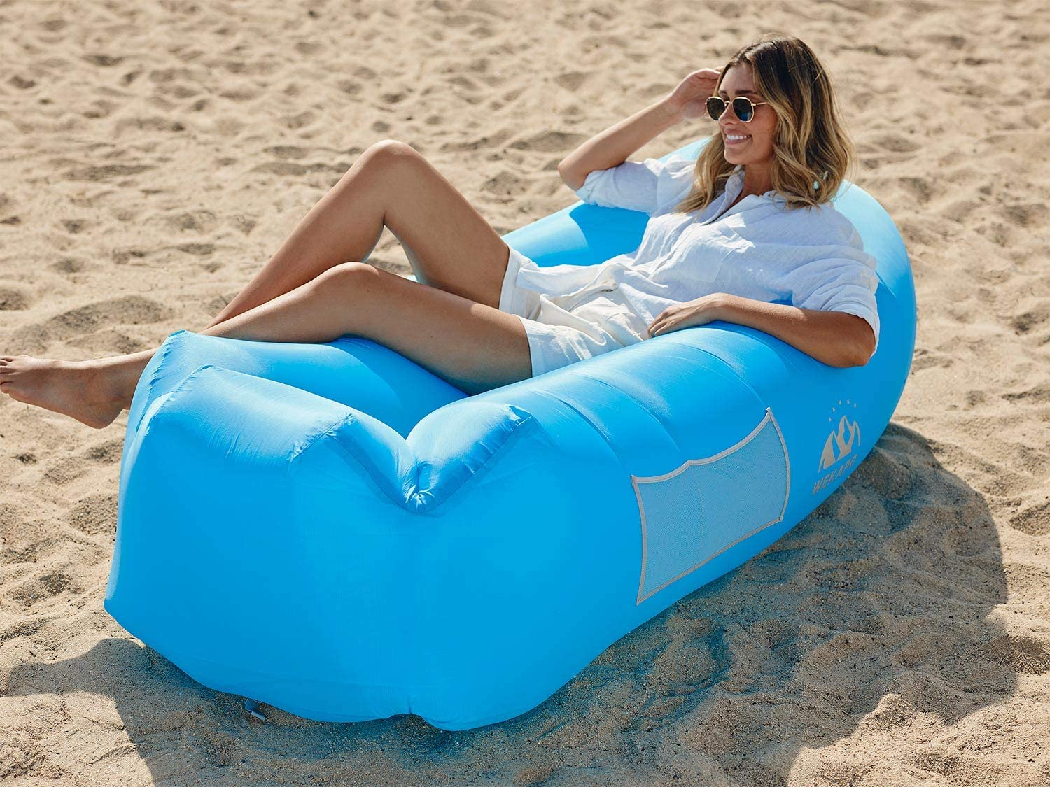 Wekapo Inflatable Lounger Air Sofa Hammock-Portable,Water Proof/& Anti-Air Leaking Design-Ideal Couch for Backyard Lakeside Beach Traveling Camping Picnics /& Music Festivals