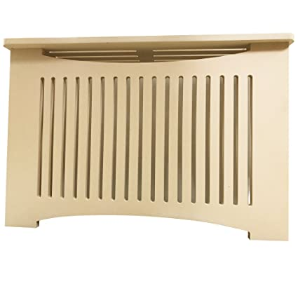 "Unfinished MDF Radiator Heater Cover, 22"" Tall x 32"" Wide x 9"""