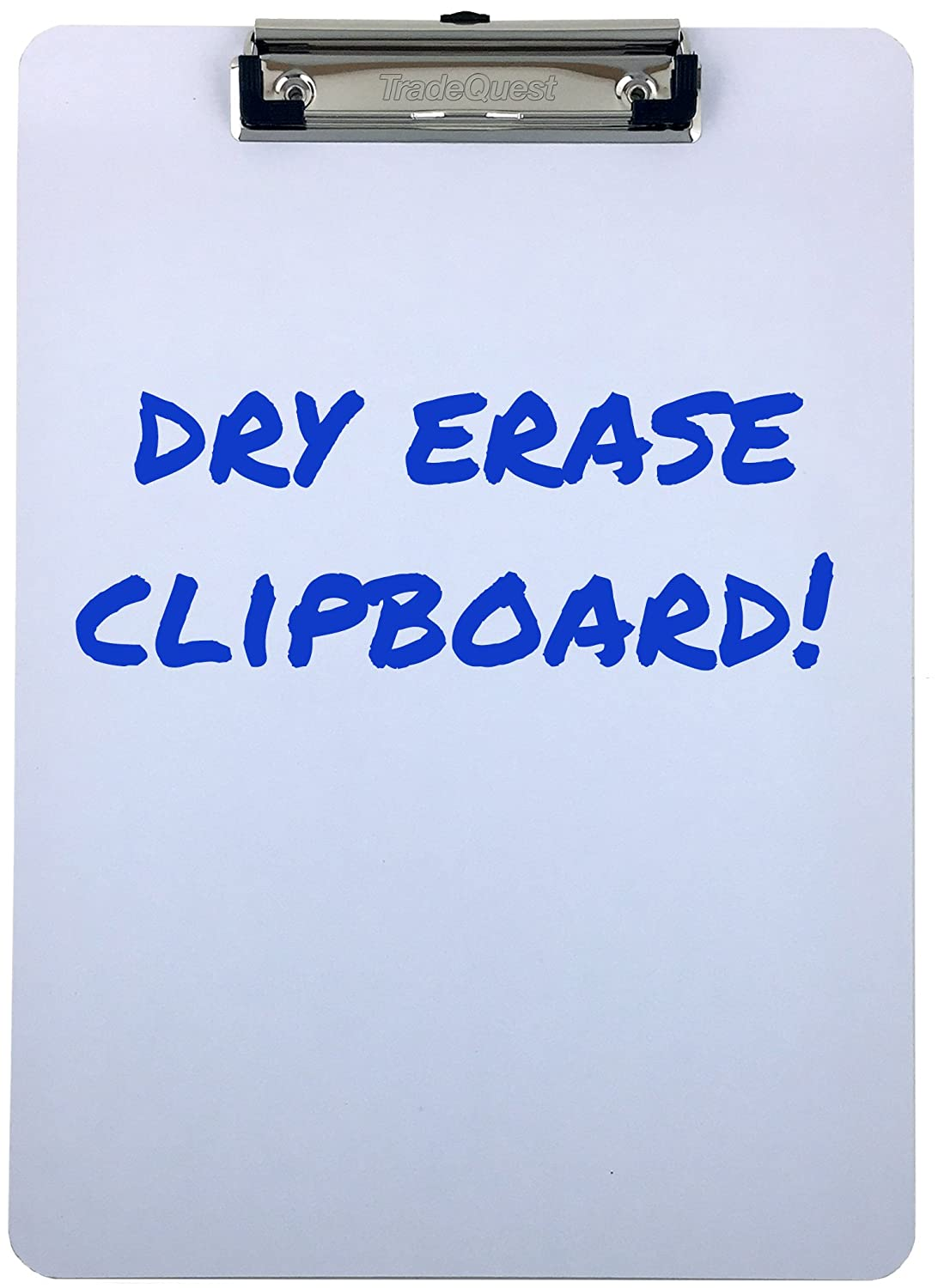 Clipboard Dry Erase Surface Low Profile Clip Whiteboard Single (Pack of 1) Trade Quest Global Corp HLLW1