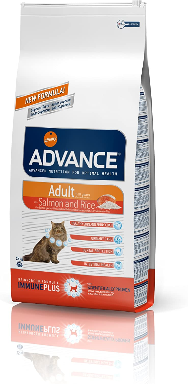 Advance Sensitive Pienso para Gato Adulto con Salmón y Arroz - 15 Kg
