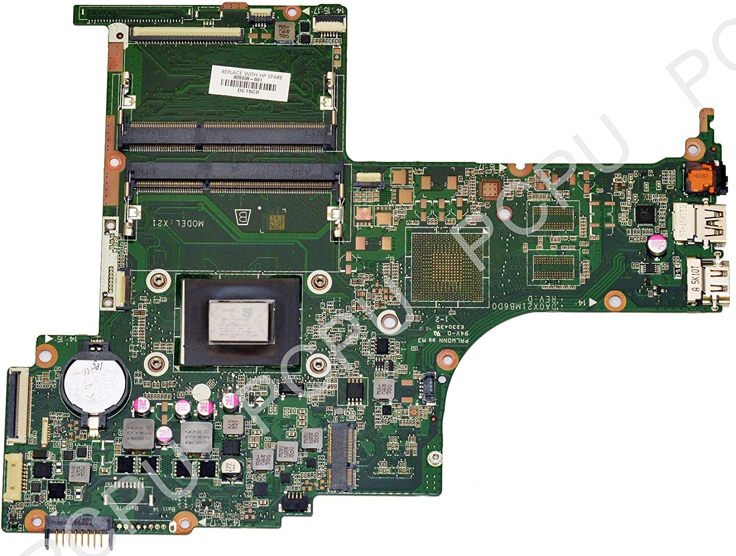 809338-601 HP 15-AB Laptop Motherboard w/AMD A10-8700P 1.8Ghz CPU