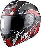 Aaron Aka Title Hybrid Max Speed Vent Professional Full Face Helmet with Bluetooth Kit (Black)