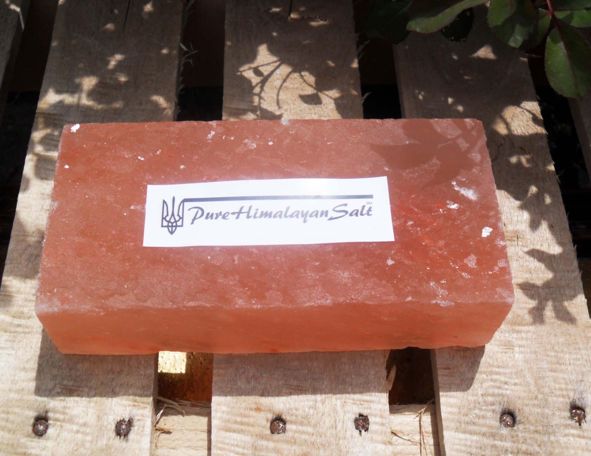 Natural Himalayan Salt Tile / Brick / Slab Pink 8x4x2-Inch