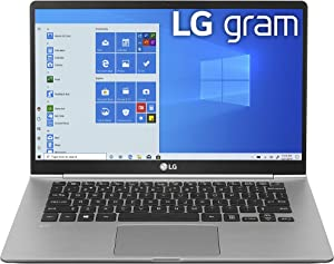 "LG Gram Laptop - 14"" Full HD IPS, Intel 10th Gen Core i5 (10210U CPU), 8GB DDR4 2666MHz RAM, 512GB NVMeTM SSD, Up to 22.5 Hours Battery, Intel UHD Graphics - 14Z995-U.ARS6U1 (2020)"