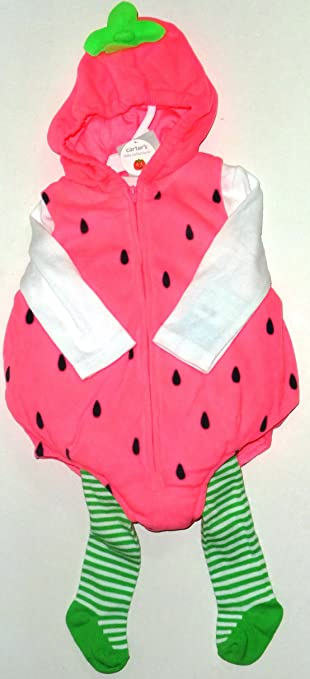 carters halloween costume baby strawberry 24 mos 3 pcs - Strawberry Halloween Costume Baby