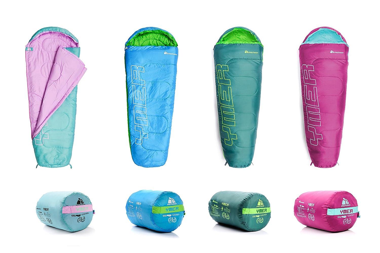 meteor Saco de Dormir Tipo Momia - Ideal para niños en Viaje, Camping, Festival o alojamiento en Hotel Acampada Senderismo al Aire Libre Portátil con Saco ...