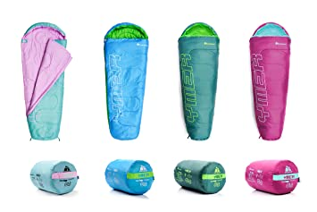 meteor Saco de Dormir Tipo Momia - Ideal para niños en Viaje, Camping, Festival