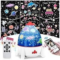 Elfeland Led-sterrenhemel projector, nachtlampje voor baby's met afstandsbediening, 6 films, luidsprekers, 360 graden…