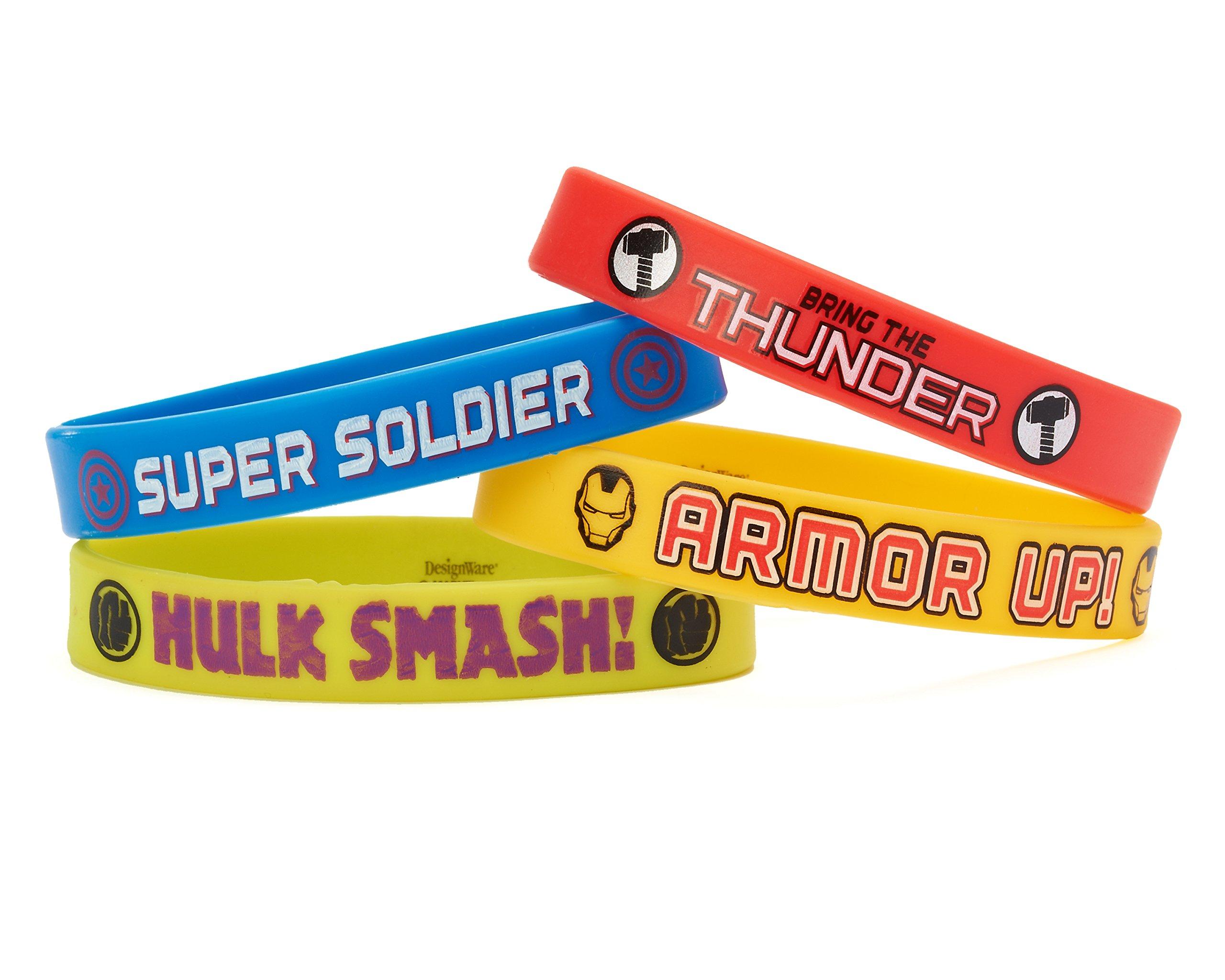 Marvel 393314 Avengers Rubber Wristbands, Multi-Colour