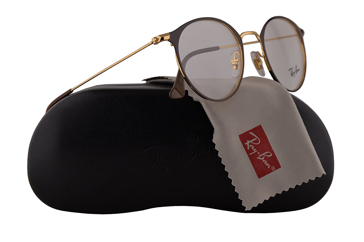 8af9ae6e45de Ray Ban RX6378 Eyeglasses 47-21-140 Gold Shiny Brown w/Demo Clear Lens 2905  RB6378 RB 6378 RX 6378: Amazon.co.uk: Clothing