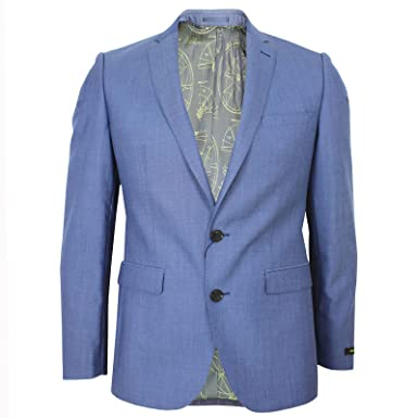 3f99cb5569c Remus Uomo Luca Mens Light Blue Jacket 42S: Amazon.co.uk: Clothing