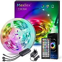 LED-strip 7,5 m, Bluetooth RGB LED-strip, kleurverandering, LED-lichtketting 7,5 m met bestuurbaar via app, 16 miljoen…