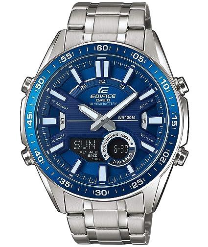 602566e577f0 EDIFICE Reloj Analógico-Digital para Hombre de Cuarzo con Correa en Acero  Inoxidable EFV-C100D-2AVEF  Amazon.es  Relojes