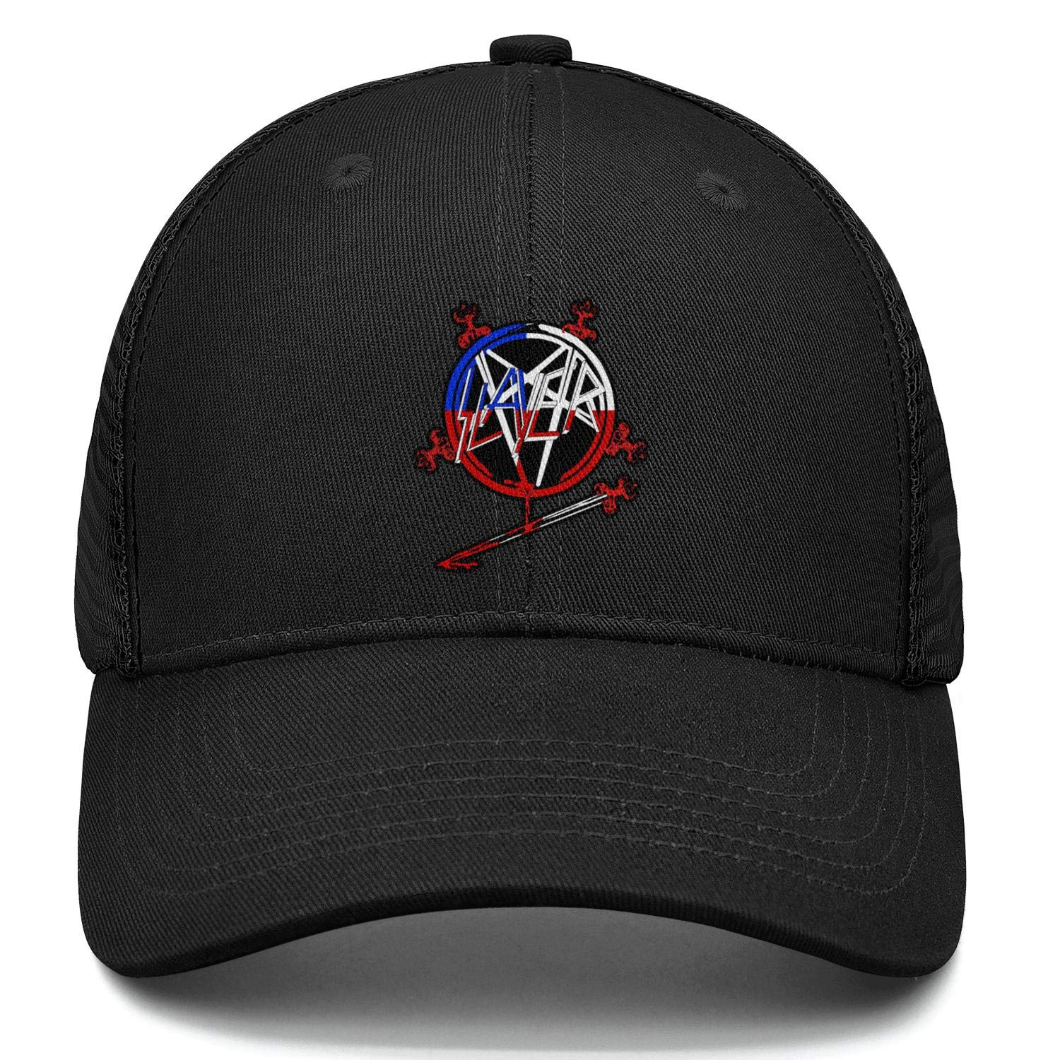 Womens Mens Slayer-Eagle-Logos-All Cotton Trucker Mesh Cap Adjustable Snapback Summer Hat