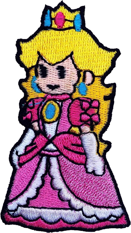La Princesa Peach de hierro bordado en placa coactivador disfraz ...