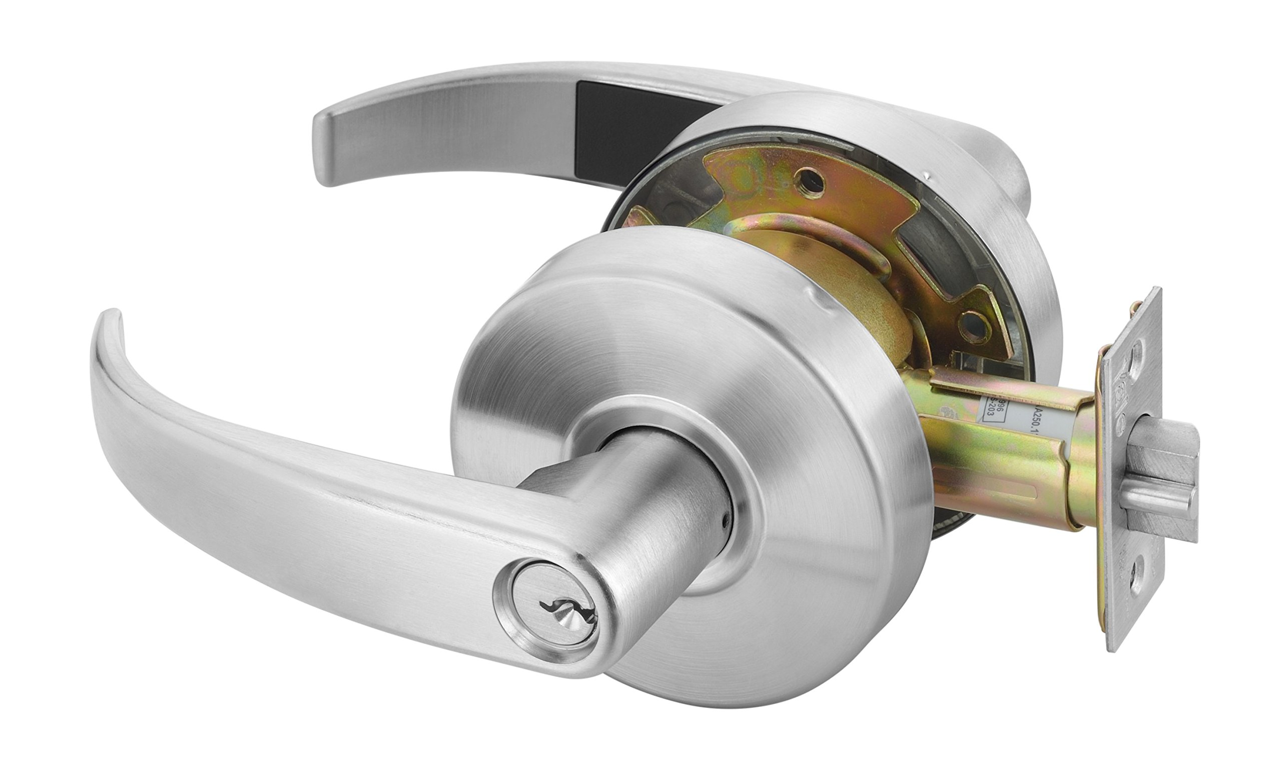 Yale PB4608 LKST 1806 Door Lever Lockset, Cylinder Lock, Entry Lock